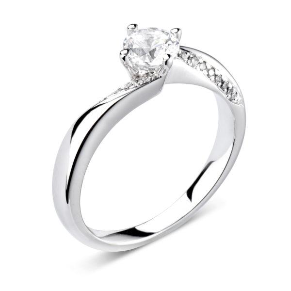 Monture or gris diamants