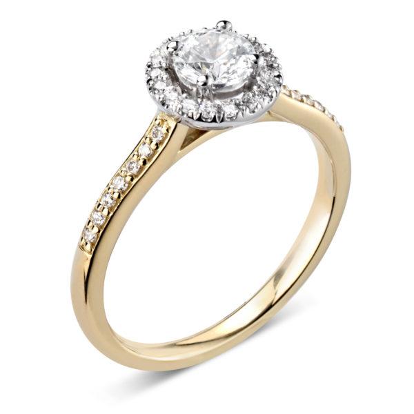 Monture or jaune diamants