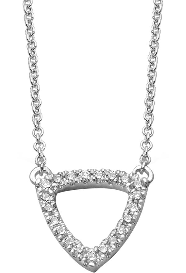 Collier or gris diamants