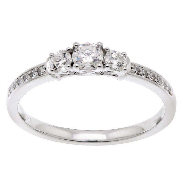 Bague or gris diamants